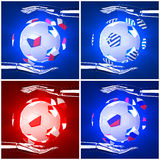 International flag on 3d football. For background 2012 Group A Royalty Free Stock Photo