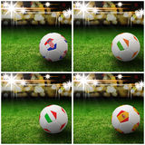International flag on 3d football Royalty Free Stock Photos