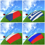 International flag on 3d football. For background 2012 Group A Royalty Free Stock Photography