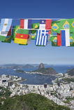 International Flag Bunting Rio de Janeiro Brazil Stock Photos