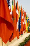 International Flags. Colorful flags of a variety of nations Stock Images