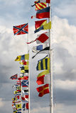 International Flags. At a windy day Royalty Free Stock Photography