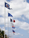International Flags Against Sky Royalty Free Stock Images