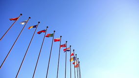 International Flags stock footage