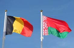 International flags: Belgium and Belarus. International flags:  Belgium and Belarus Royalty Free Stock Images