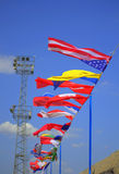 International flags Stock Photos