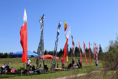 International Flags at Festival Stock Images