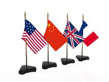 International flags. Of powerful countries of the world Stock Photography