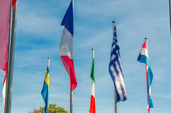 International Flags sea Royalty Free Stock Image