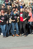 International Flashmob Day of Rueda de Casino, Royalty Free Stock Photos