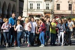 International Flashmob Day of Rueda de Casino, Stock Images