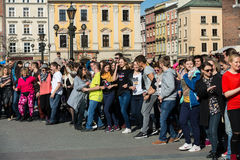 International Flashmob Day of Rueda de Casino Royalty Free Stock Photos