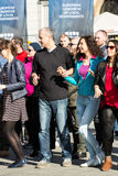 International Flashmob Day of Rueda de Casino Stock Photos