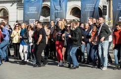 International Flashmob Day of Rueda de Casino Stock Image
