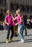 International Flashmob Day of Rueda de Casino Stock Photography