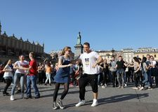 International Flashmob Day of Rueda de Casino Royalty Free Stock Photography