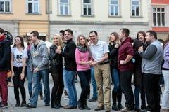 The international Flashmob day of rueda de Casino Royalty Free Stock Photo