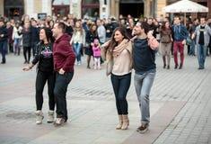 The international Flashmob day of rueda de Casino Stock Photo