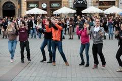 The international Flashmob day of rueda de Casino Stock Image