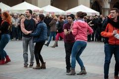 The international Flashmob day of rueda de Casino Stock Images