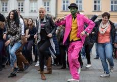 The international Flashmob day of rueda de Casino Royalty Free Stock Images