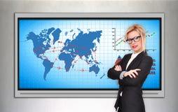 International flights scheme Stock Photography