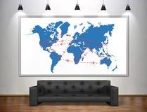 International flights scheme Stock Images