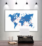 International flights scheme Royalty Free Stock Images