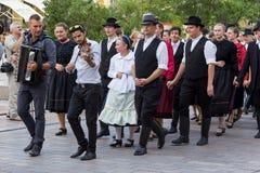 International folk dance festival, Pécs of Hungary Stock Photo