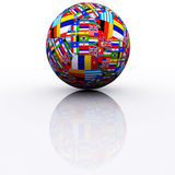 International football. S generated in 3D MAX Royalty Free Stock Photography