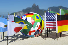 International Football Country Flags Soccer Ball Rio de Janeiro Brazil Royalty Free Stock Photo