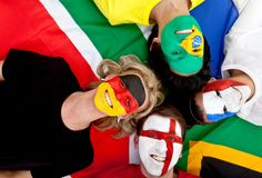 International football fans Royalty Free Stock Photography