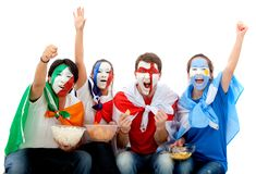 International football fans Stock Images
