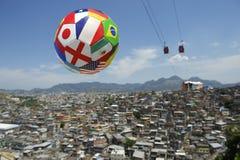 International Football Soccer Ball Rio Brazil Favela Stock Photography
