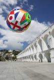 International Football Soccer Ball Rio de Janeiro Brazil Skyline Royalty Free Stock Photos