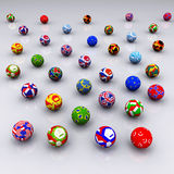International footballs. Generated in 3D MAX Royalty Free Stock Image