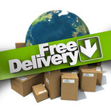 International free delivery Royalty Free Stock Photo