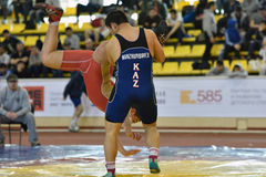 International freestyle wrestling tournament Victory Day in St. Petersburg, Russia Stock Photography