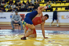 International freestyle wrestling tournament Victory Day in St. Petersburg, Russia Stock Photos