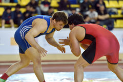 International freestyle wrestling tournament Victory Day in St. Petersburg, Russia Stock Photo
