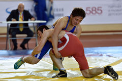 International freestyle wrestling tournament Victory Day in St. Petersburg, Russia Royalty Free Stock Image