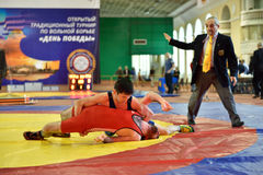International freestyle wrestling tournament Victory Day in St. Petersburg, Russia Royalty Free Stock Photo