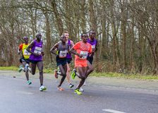 International front runners at The Hague CPC half marathon Royalty Free Stock Images