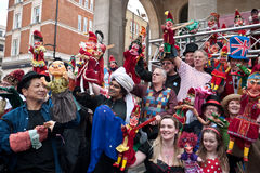 International gathering of Punch and Judy's. Stock Photography