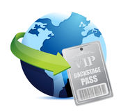 International global Backstage pass vip. Illustration design over white Royalty Free Stock Image