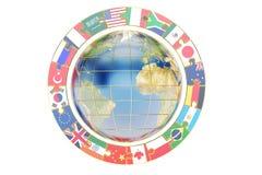 International global communication concept with earth, 3D render. International global communication concept with earth, 3D Royalty Free Stock Photo