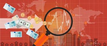 International global del mundo del crecimiento del intercambio de dinero de la inversión extranjera ilustración del vector