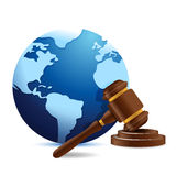 International globe and gavel Stock Photography