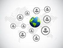 International globe people network Royalty Free Stock Images