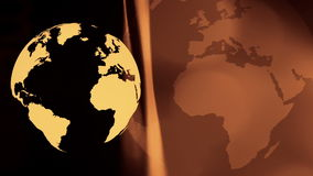 International gold business background. Rotating world globe abstract motion background stock video